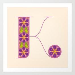 K - Amarilis Art Print