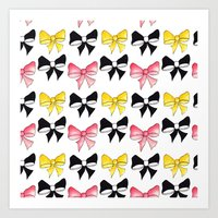bows Art Prints featuring Bows by erin m higgins