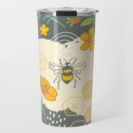 Little Bee and Buttercups Travel Mug