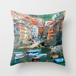 Italy. Cinque Terre marina Throw Pillow