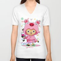 one piece V-neck T-shirts featuring One Piece: TonyTony Chopper by Neo Crystal Tokyo