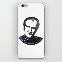 quentin tarantino iPhone & iPod Skins featuring Quentin Tarantino by Alejandro de Antonio Fernández