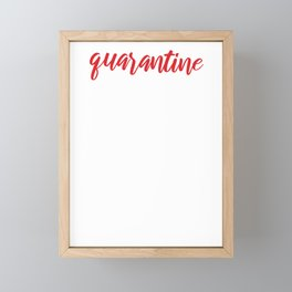 Covid19 Quarantine Coordinator Homeschool Mom Life Framed Mini Art Print
