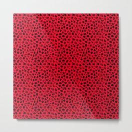 Crayon Rocks 14   Black & Red Metal Print