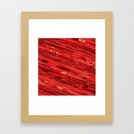Speed Demon / Abstract 3D render of glass and metal Framed Art Print