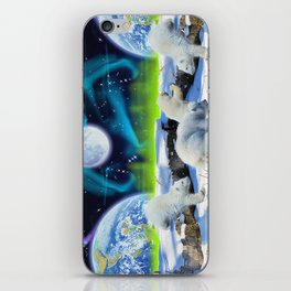 Joyful - Polar Bear Cubs and Planet Earth iPhone Skin