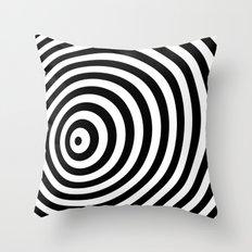 Modern Black & White Geometric Optical Illustration  Throw Pillow