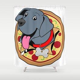 Pizza Puppy Shower Curtain
