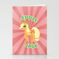 mlp Stationery Cards featuring MLP FiM: Applejack by Yiji