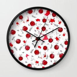 Little Ladybird | Inkies Pattern Collection Wall Clock