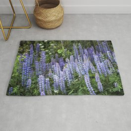Lupins in Blue and Purple Rug