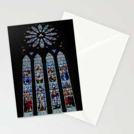 Stained Glass Window of St. Magnus Cathedral Stationery Cards