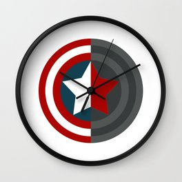 Colorful shield Wall Clock