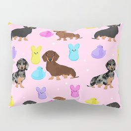Dachshund dog breed peeps marshmallow treat easter spring doxie lover Pillow Sham