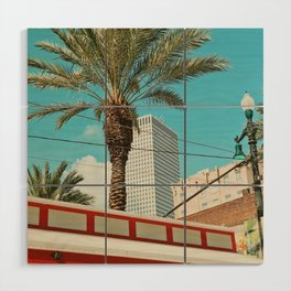 Downtown New Orleans Wood Wall Art