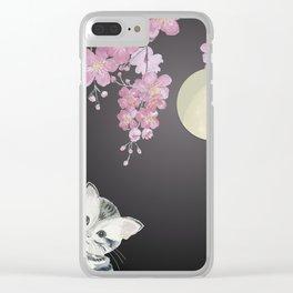 Take A Peek - Cat Clear iPhone Case