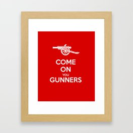 Come on You Gunners Framed Art Print
