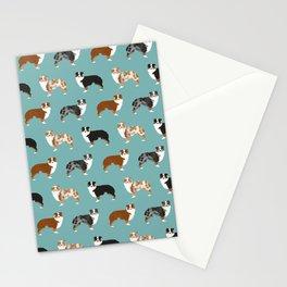 Australian Shepherd owners dog breed cute herding dogs aussie dogs animal pet portrait hearts Stationery Cards