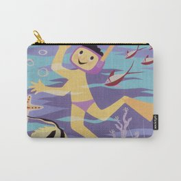 Snorkeling Vintage Poster Carry-All Pouch