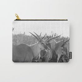 Herd of Eland stand in tall grass in African savanna Carry-All Pouch