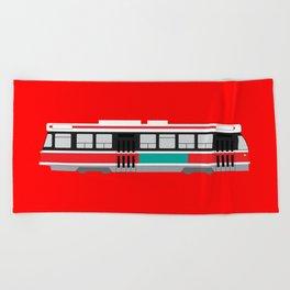 Toronto TTC Streetcar Beach Towel