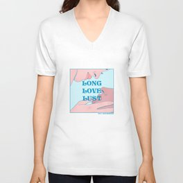 """Long Love Lust"" inspired by The L Word Unisex V-Neck"