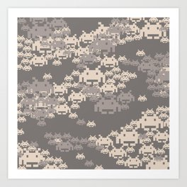 Space Invader Camo Art Print