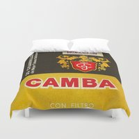 cigarette Duvet Covers featuring Camba - Vintage Cigarette by Fernando Vieira