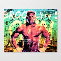 mike tyson Canvas Prints featuring Never Ran Never Will - Iron Mike Tyson by GiancarloVargas