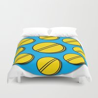 pills Duvet Covers featuring Pills Circle by Thisisnotme