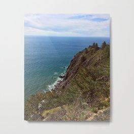 Oregon's Coastal Brink Metal Print