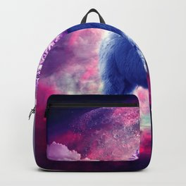 Outer Space Galaxy Kitty Cat Riding On Llama Backpack