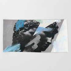 Untitled (Painted Composition 1) Beach Towel