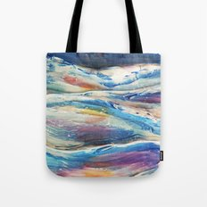3D Ocean waves Tote Bag
