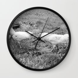 Pecking Order Wall Clock