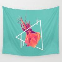 rush Wall Tapestries featuring Sugar Rush by ployz