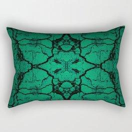 Green cracked wall Rectangular Pillow