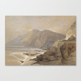Ras-El-Abiad, Coast of Syria, 1839, by David Roberts. Canvas Print