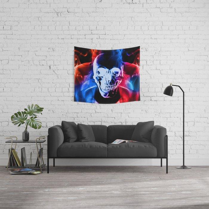 Smokey Skull Wall Tapestry