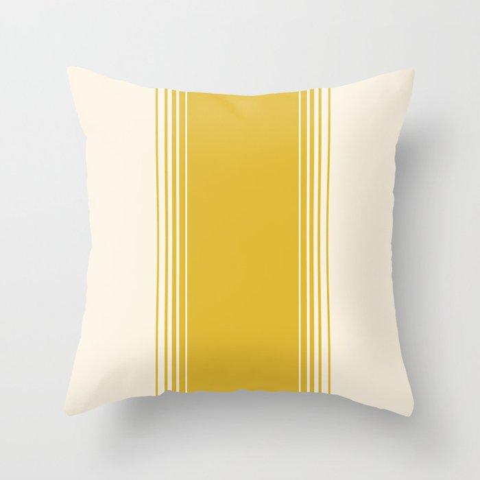 Marigold & Crème Vertical Gradient Throw Pillow