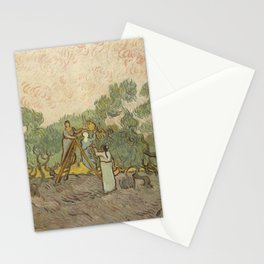Women Picking Olives Stationery Cards