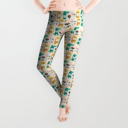 Animal idioms - its a free world Leggings