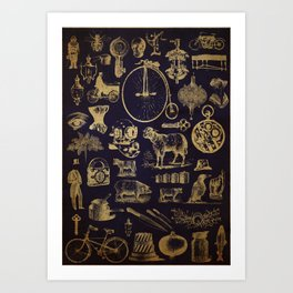 Found Engravings Art Print