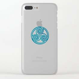 St. Patrick's Day Celtic Blue Mandala #5 Clear iPhone Case