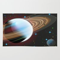 planets Area & Throw Rugs featuring Planets by Kaitlynn Marie