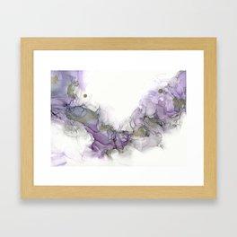 Study in Purple Framed Art Print