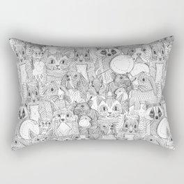 crazy cross stitch critters Rectangular Pillow