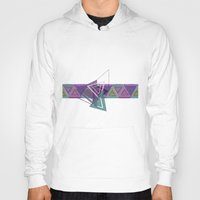 triangles Hoodies featuring Triangles by gretzky