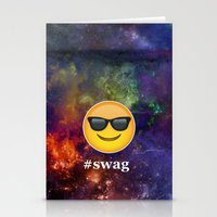 swag Stationery Cards featuring #Swag by pbstudios