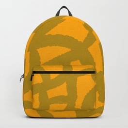 yellow giraff print Backpack